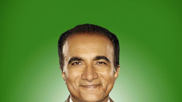 "Iqbal Theba returns as Principal Figgins in season 2 of ""Glee."""