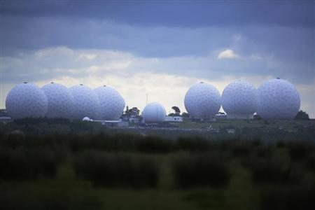RAF Menwith Hill base, which provides communications and intelligence support services to the United Kingdom and the U.S. is pictured near Harrogate, northern England June 15, 2013. REUTERS/Nigel Roddis