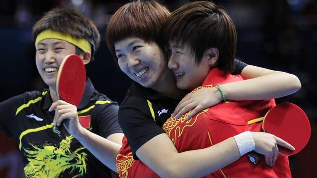China close in on Olympic table tennis clean sweep