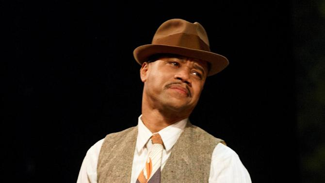 "This theater publicity image released by The Hartman Group shows Cuba Gooding Jr. during a performance of ""The Trip to Bountiful,""  at the Stephen Sondheim Theatre in New York. Gooding co-stars in the revival of Horton Foote's masterpiece about _ appropriately enough _ getting back home. He stars opposite Cicely Tyson, Vanessa Williams, Condola Rashad and Tom Wopat.  (AP Photo/The Hartman Group, Joan Marcus)"