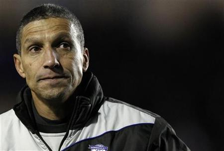 Birmingham City's manager Hughton leaves the pitch after their Europa League Group H soccer match against Maribor in Birmingham