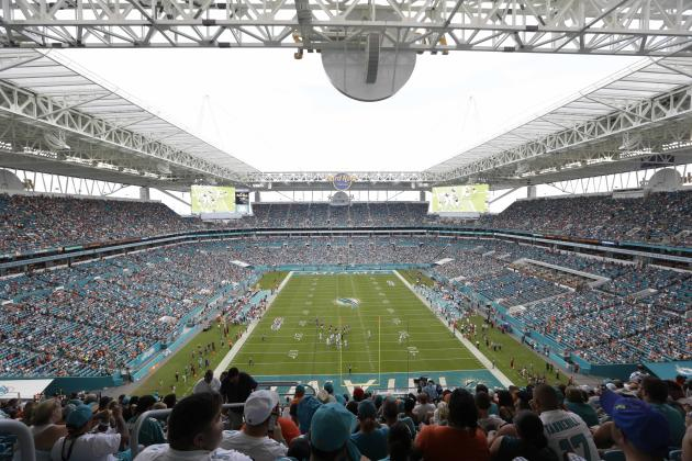 Hard Rock Stadium Is Seen During The Second Half Of An Nfl Football Game Between The Miami