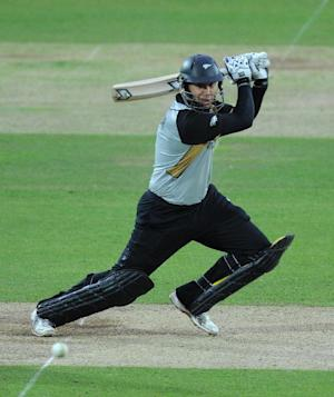 Ross Taylor was closing in on a century at tea