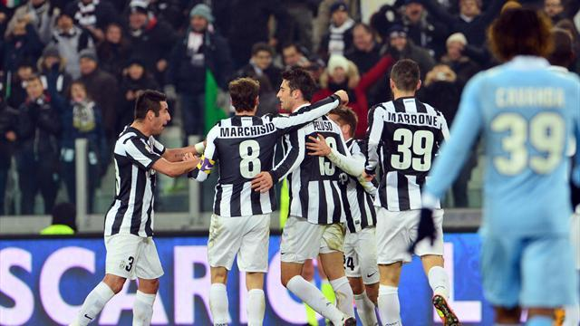 Italian Serie A - Peluso's first goal not enough as Lazio hold Juve in Cup