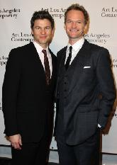 Neil Patrick Harris and husband David Burtka arrive at Art Los Angeles Contemporary Opening Night Reception in Santa Monica, Calif., on January 27, 2011 -- Getty Images
