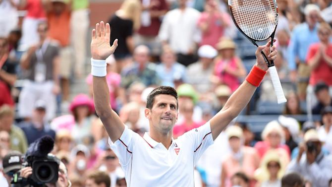 US Open - Djokovic eases past Querrey into fourth round