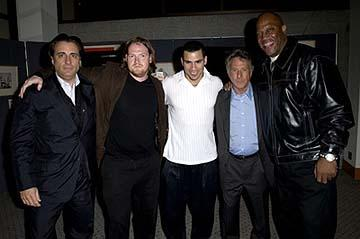 """Premiere: Andy Garcia, Donal Logue, Franky G, Dustin Hoffman and Tom """"Tiny"""" Lister Jr. at the LA premiere of Lions Gate's Confidence - 4/15/2003"""