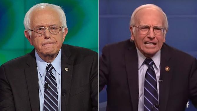 Bernie Sanders Reacts to Larry David's 'Saturday Night Live' Impersonation