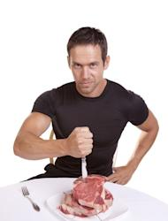 The beefcake factor goes up for meat-eating men, according to a new study, while vegetarians are considered less masculine