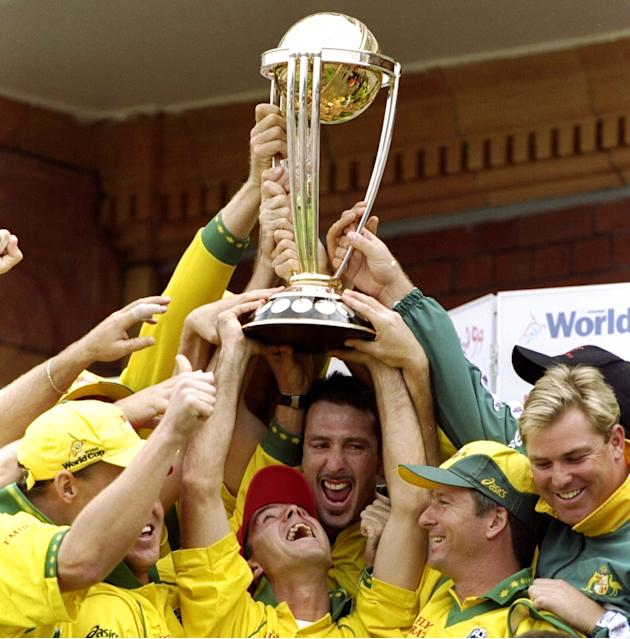 Australia lift the trophy