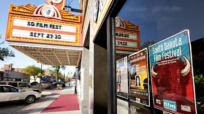 The historic Capitol Theatre in downtown Aberdeen, S.D., is home to the South Dakota Film Festival, as seen in this Sept. 28, 2012 photograph. Organizers say the festival is growing and might have to spread to other locations in town in the next year or two. While it isn't well known to moviegoers, it's becoming a filmmakers' favorite in the Midwest. (AP Photo/Amber Hunt)