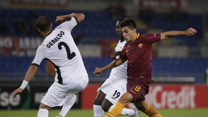 Roma's Diego Perotti in action