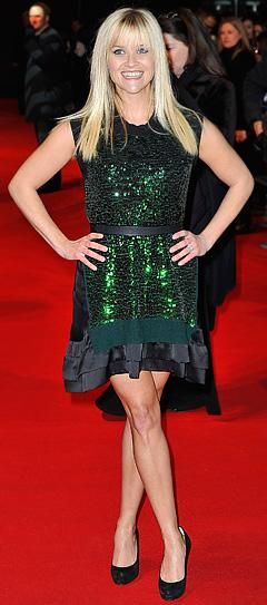 Reese Witherspoon Wows in Sparkly Mini at This Means War Premiere