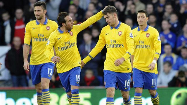 Premier League - Ramsey and Ozil shine as slick Arsenal move seven clear