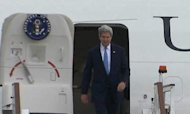 Syria: Kerry Arrives In UK For Talks With Hague