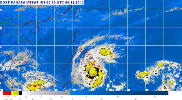 Typhoon Pablo (Bopha) made landfall over Baganga town in Davao Oriental before 5 a.m. Tuesday, even as 24 areas were placed under Storm Signal No. 3.