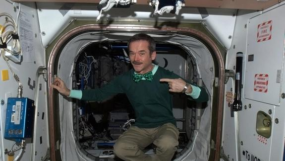 Astronaut Celebrates St. Patrick's Day in Space