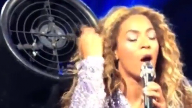Beyonce's Hair Sucked Into Giant Fan