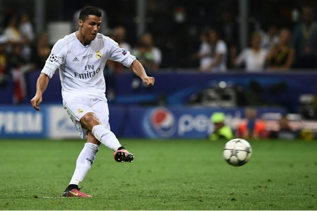 Real Madrid's Cristiano Ronaldo steps up to score the deciding penalty in the UEFA Champions League final