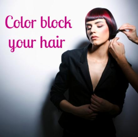 Color blocking... For hair!