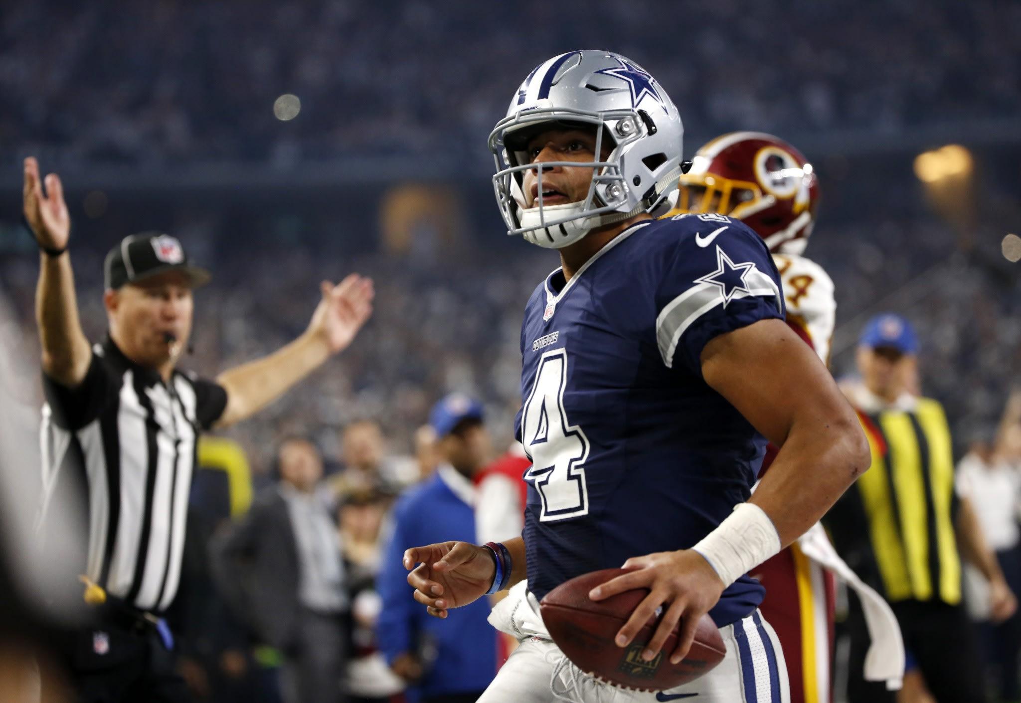 Dak Prescott played a strong game against the Washington Redskins. (AP)
