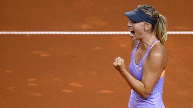 Tennis - Sharapova downs Radwanska to reach Stuttgart semis