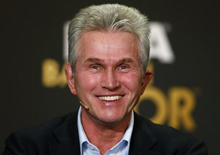 FIFA World Coach of the Year 2013 for Men's Football nominee former coach of Bayern Munich Heynckes of Germany smiles during a news conference ahead of the FIFA Ballon d'Or soccer awards ceremony in Zurich