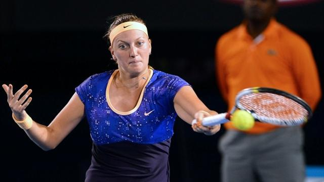 Tennis - Mladenovic ousts Kvitova in Paris