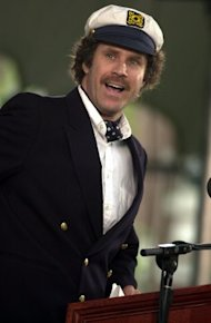 Will Ferrell speaking to Harvard grads in 2004. (Photo by Douglas McFadd/Getty Images)