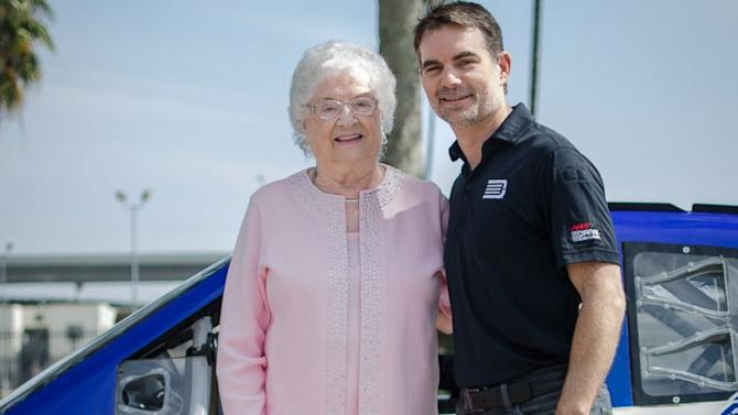 Jeff Gordon Fulfills 87-Year-Old NASCAR Fan's Ultimate Dream