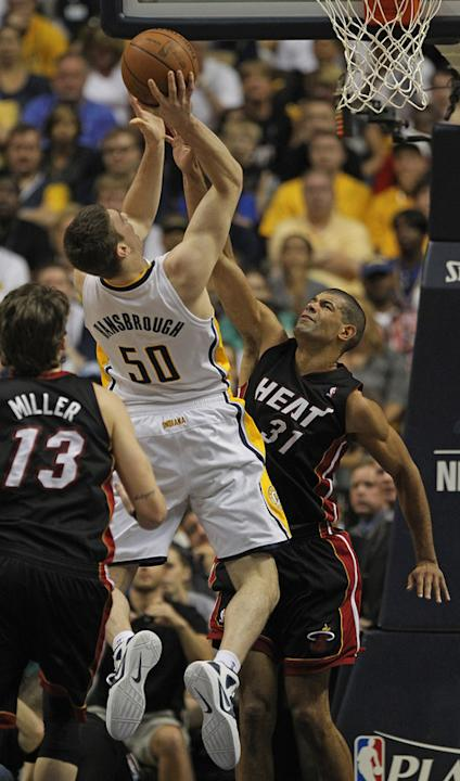 Tyler Hansbrough #50 Of The Indiana Pacers Tries Getty Images
