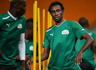 Burkina Faso midfielder Jonathan Pitroipa trains at Soccer City in Soweto on February 9, 2013, on the eve of the 2013 Africa Cup of Nations final against Nigeria
