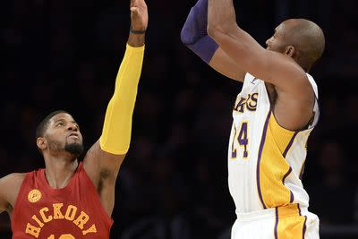 2015 NBA scores: Paul George and Pacers ruin Kobe Bryant's retirement party