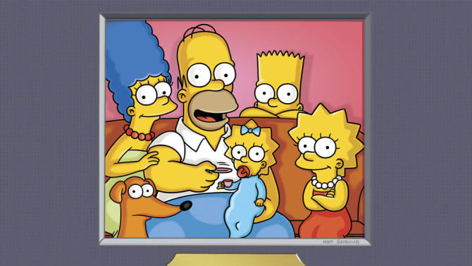 "The cast of  ""The Simpsons."""