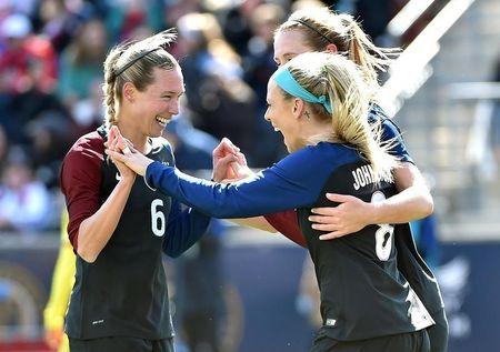 Soccer: U.S. Women's National Team Friendly Soccer Match-Columbia at USA