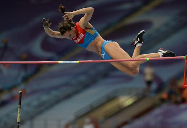 Yelena Isinbayeva will miss the remainder of the indoor season after tearing a muscle in her left leg
