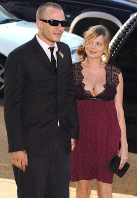 Premiere: Heath Ledger and Michelle Williams at the Los Angeles premiere of Dimension Films' The Brothers Grimm - 8/8/2005