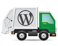 Use WordPress and Avoid the Garbage Truck Risk. image wordpress garbage truck 300x240