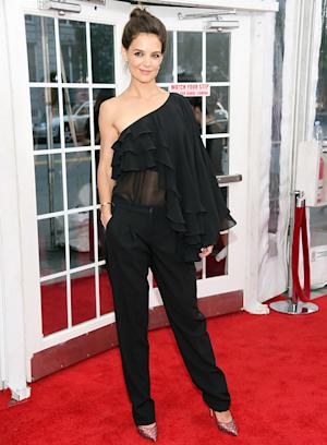 Katie Holmes Wears Sheer Top, Bares Her Belly Button on the Red Carpet: See Her Look