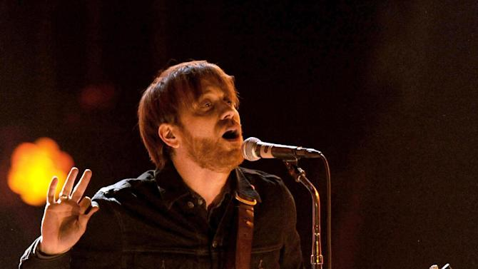 FILE - In a Dec. 10, 2011 file photo, Dan Auerbach, lead singer of The Black Keys, performs at Spike TV's Video Game Awards in Culver City, Calif.  Dan Auerbach received one nomination and the band got five nominations for the 55th annual Grammy Awards, announced Wednesday night, Dec. 5, 2012, at Bridgestone Arena in Nashville, Tenn. (AP Photo/Chris Pizzello, File)