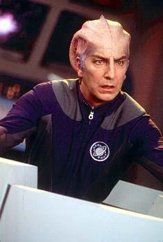 Alan Rickman as Alexander Dane, who played Dr. Lazarus on the sci-fi series 'Galaxy Quest' in Dreamworks' Galaxy Quest