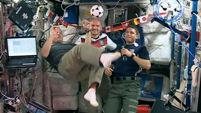 Astronauts Kick Off World Cup With Their Own Soccer Game
