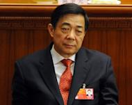 Former Chongqing Party Secretary Bo Xilai, seen during the closing ceremony of the National People's Congress at the Great Hall of the People in Beijing, in March. The charismatic Bo had been widely expected to ascend to the all-powerful nine-man Communist Party committee that runs China later this year but was ousted recently in a scandal that has shaken Chinese politics to its core