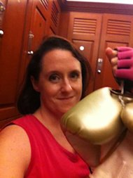 How Boxing Makes Me a Better Content Marketer image rachel boxing gloves