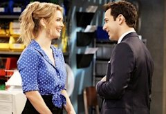 Briga Heelan and Skylar Astin | Photo Credits: Hopper Stone/TBS