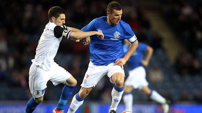 Graeme Shinnie, left, scored the third goal as Inverness defeated Rangers