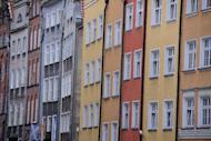 File picture. Facades of different colours in an old street of Gdansk on June 12, 2012. Hosted along with Poland's neighbour Ukraine from June 8 to July 1, Euro 2012 marked the first excursion of the quadrennial tournament behind the former Iron Curtain.