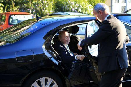 Former FIFA President Sepp Blatter arrives at the Court of Arbitration for Sport (CAS) to be heard in the arbitration procedure involving him and the FIFA in Lausanne