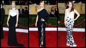 SAG Awards Fashion: Claire Danes, January Jones, Julianne Moore Vie for Best Black-and-White Gowns (Poll)