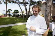 Arnaud Donckele, the head chef at La Vague d'Or in Saint Tropez, now has three Michelin stars